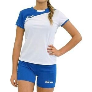Форма волейбольная женская Mikasa жен., арт. MT376-018-M, р. M, 100% полиэстер, бело-синий