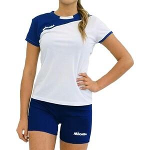 Форма волейбольная женская Mikasa жен., арт. MT376-023-2XL, р. 2XL, 100% полиэстер, бело-т.синий