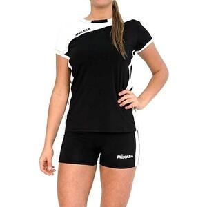 Форма волейбольная женская Mikasa жен., арт. MT376-046-2XL, р. 2XL, 100% полиэстер, бело-черный