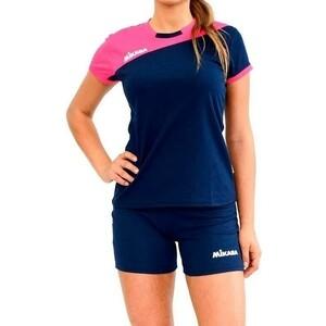 Форма волейбольная женская Mikasa жен., арт. MT376-063-L, р. L, 100% полиэстер, фуксия-т.синий