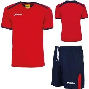 Форма волейбольная мужская Mikasa муж., арт. MT351-062-2XL, р. 2XL, 100% полиэстер, темносине-красный