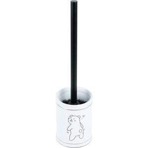 Ершик для унитаза Fixsen Teddy черная щетка (FX-600-5)