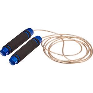 Скакалка Bradex SF 0457 с утяжелителями, синяя скакалка скоростная металлическая bradex sf 0460 черная speed jump rope