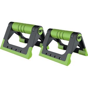 Упоры для отжиманий Original FitTools (черно-зеленые)