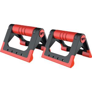 Упоры для отжиманий Original FitTools (черно-красные)
