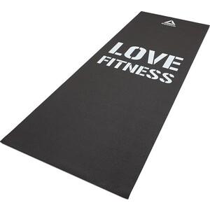 Коврик для фитнеса Reebok RAMT-11024BKL тонкий Love (черн)