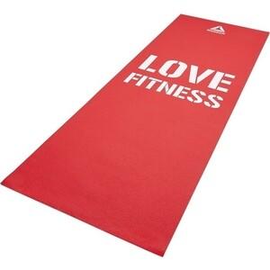 Коврик для фитнеса Reebok RAMT-11024RDL тонкий Love (красн)