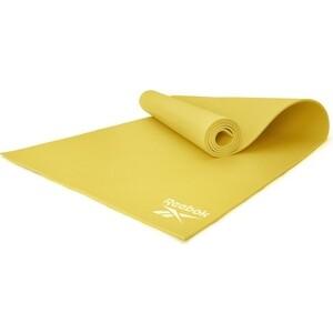 Коврик для фитнеса Reebok RAYG-11022YL желтый 4 мм