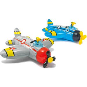 Надувная игрушка-наездник Intex 57537 Самолеты, 132х130см, от 3 лет