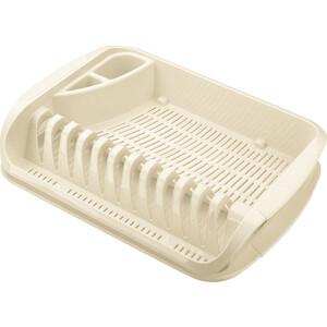 Сушилка Бытпласт для посуды 395x295x80 мм (бежевый)