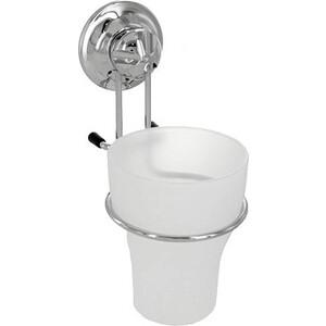 Стакан для ванной комнаты EverLoc матовый на присоске (10222)