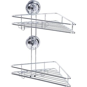 Полка Tatkraft RING LOCK для ванной угловая 2-х ярусная (17207)