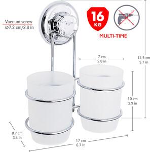Стакан для ванной комнаты Tatkraft MEGA LOCK ODR двойной (20436)
