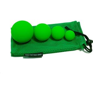 Набор массажных мячей Original FitTools 4 шт. (6,3 см, 5 см и 3 см)