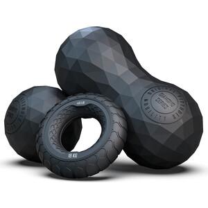 Набор эспандеров Original FitTools из двух массажных мячей с кистевым эспандером черный