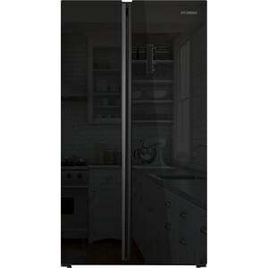 Холодильник Hyundai CS6503FV черное стекло