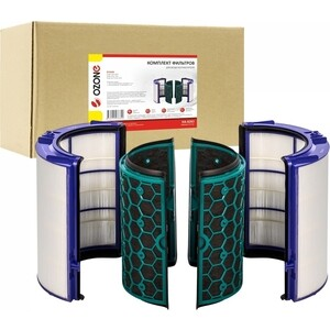Фильтр Ozone комплект из 2 синтетических элемента + угольных для воздухоочистителя DYSON PURE COOL DP04, 1 шт, HA-6263