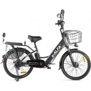 Велогибрид GREEN CITY e-ALFA new Сине-серый матовый-2401