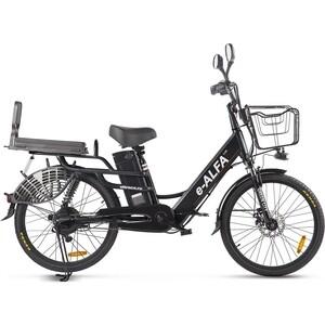 Велогибрид GREEN CITY e-ALFA LUX Черный-2395