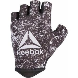 Перчатки для фитнеса Reebok белый/черн M, RAGB-13634 перчатки для mma reebok glove medium rscb 10320rdbk