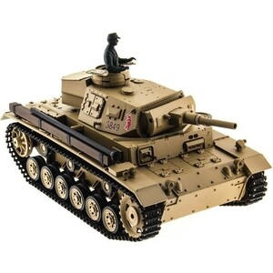 Радиоуправляемый танк Heng Long Panzer III type H Upg масштаб 1:16 2.4G - 3849-1Upg V6.0