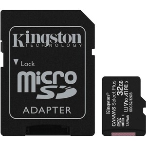 Карта памяти Kingston microSDHC 32Gb Canvas Select Plus (class 10/UHS-I/U1/100Mb/s/SD- адаптер)