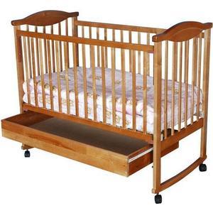 Кроватка Агат Золушка 2 колеса/качалка/ящик вишня 52103