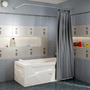 Карниз для ванны Radomir Г-образный шторы на прямоугольную ванну 160x75 (1-12-2-0-0-983)