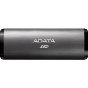 SSD накопитель ADATA 1TB SE760, External, USB 3.2 Type-C, [R/W -1000/- MB/s] 3D-NAND, титановый серый