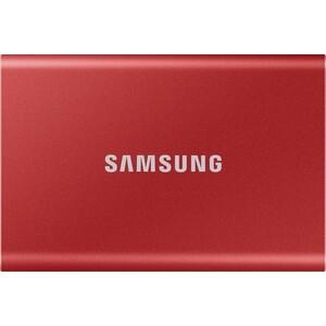 SSD накопитель Samsung 1TB Т7 Portable MU-PC1T0R, V-NAND, USB 3.2 Gen 2 Type-C [R/W - 1000/1050 MB/s] Red