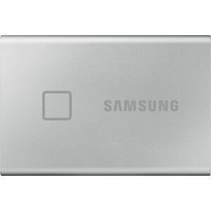 SSD накопитель Samsung 500GB Т7 Touch MU-PC500S, 3D NAND TLC, USB 3.2 Type-C [R/W - 1050/1000 MB/s] Silver