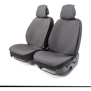 Накидки на передние сиденья CarPerformance 2 шт., fiberflax CUS-1052 GY/GY