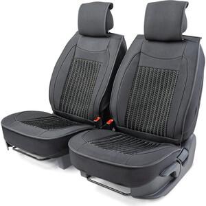 Накидки на передние сиденья CarPerformance Каркасные , 2 шт., fiberflax CUS-2062 BK/BK