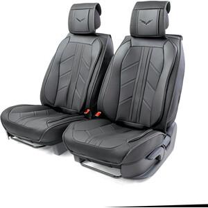Накидки на передние сиденья CarPerformance Каркасные 3D , 2 шт., экокожа CUS-3012 BK/BK