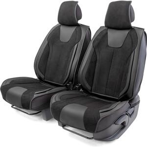 Накидки на передние сиденья CarPerformance Каркасные 3D , 2 шт., экокожа/алькантара CUS-3034 BK/BK