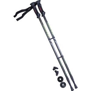 Палки для скандинавской ходьбы BERGER Longway, 77-135 см, 2-секционные, чёрный/ярко-зелёный