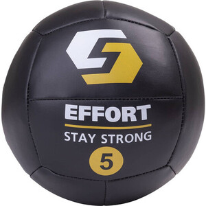 Медбол EFFORT EMD5, к/з, 5 кг, черный 1/3