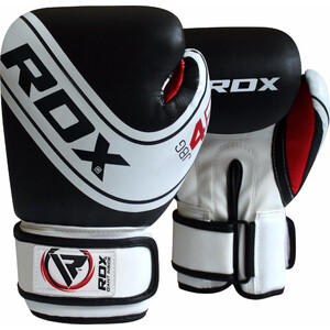 Перчатки боксерские RDX KIDS WHITE/BLACK JBG-4B-4oz, 4 oz, детские