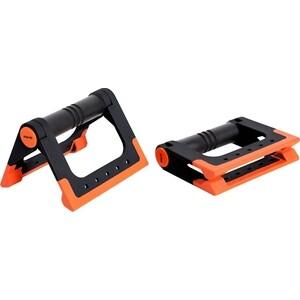 Упоры для отжиманий Starfit BA-304, складные, черный/оранжевый упоры для отжимания starfit ba 304 black orange ут 00016658