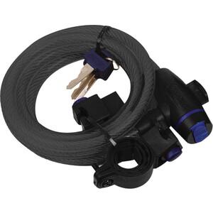 Велозамок Oxford Cable Lock на ключе чёрный
