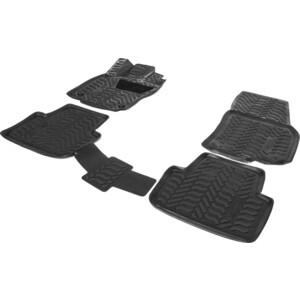 Коврики салона AutoFlex для Volkswagen Tiguan II (DSG РКПП) (2016-н.в.), полиуретан, черные, 4 части, с крепежом, 9580201 коврики салона резиновые 5nb06150082v для volkswagen tiguan 2017