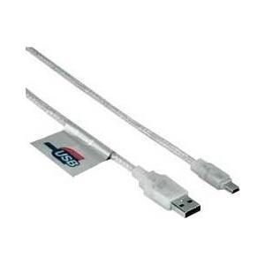 Кабель HAMA 00039744 USB A(m) mini B (m) 0.75м прозрачный