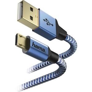 Кабель HAMA 00178289 micro USB B (m) A(m) 1.5м синий