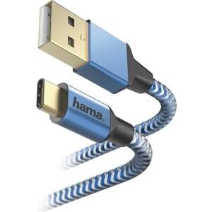 Фото - Кабель HAMA 00178295 USB Type-C (m) USB 2.0 (m) 1.5м синий кабель hama 00183287 usb type c m usb type c m 1 5м черный