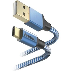 Фото - Кабель HAMA 00178295 USB Type-C (m) USB 2.0 (m) 1.5м синий кабель hama microusb usb type c черный 0 75м 00135713