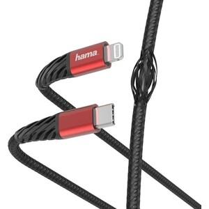 Фото - Кабель HAMA 00183294 Lightning USB Type-C (m) 1.5м черный/красный кабель hama 00187218 usb type c m угловой usb 2 0 m угловой 1 5м черный красный