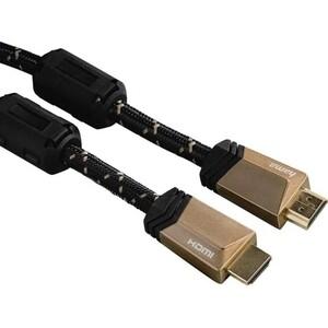Фото - Кабель аудио-видео HAMA HDMI (m)/HDMI (m) 3м. феррит.кольца Позолоченные контакты черный (00122211) кабель аудио видео hama hdmi m hdmi m 1 5м контакты позолото черный 00122117