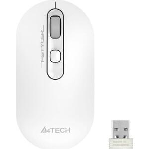 Фото - Мышь A4Tech Fstyler FG20 белый оптическая (2000dpi) беспроводная USB для ноутбука (4but) мышь a4tech fstyler fg10 черный оранжевый оптическая 2000dpi беспроводная usb 4but