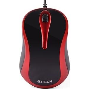 Мышь A4Tech V-Track Padless N-360 красный/черный оптическая (1000dpi) USB (3but) недорого