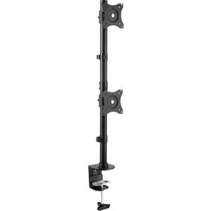 Фото - Кронштейн для мониторов Arm Media LCD-T43 черный 15-32 макс.20кг настольный поворот и наклон верт.перемещ. кронштейн для мониторов жк kromax office 2 серый 15 32 макс 10кг настольный поворот и наклон